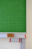 Green blackboard in a school Stock Image