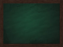 Green blackboard with wooden frame Royalty Free Stock Image