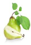 green blad pears royaltyfria bilder