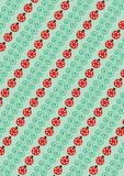 Green blades and ladybirds. Background from green blades and ladybirds stock illustration