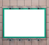Green blank billboard with spotlight Royalty Free Stock Photo