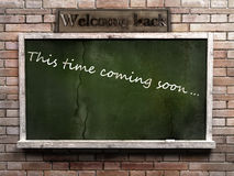 Green Blank Blackboard Royalty Free Stock Photo