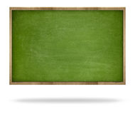 Green blank blackboard with wooden frame Stock Image