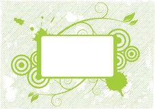 Green blank floral design Royalty Free Stock Images
