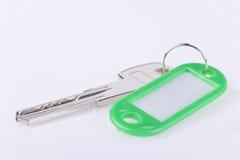 Green blank key tag Royalty Free Stock Photography
