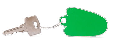 A green blank key tag Stock Photos