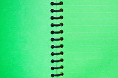 Green blank notebook. Background and texture of Green blank notebook Stock Photos