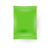 Green Blank  Sachet Bag Packaging Royalty Free Stock Photo