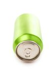 Green blank soda can Royalty Free Stock Photos