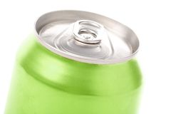 Green blank soda can Royalty Free Stock Photography