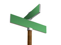 Green blank street sign Royalty Free Stock Image