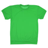Green blank t-shirt (Clipping path) Royalty Free Stock Photography