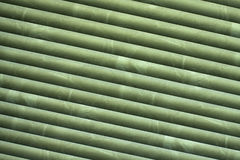 Green blind. Diagonal blind, for abstract background related with interiors Stock Photos