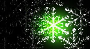 Green Blizzard Royalty Free Stock Photography