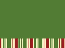 Green Block with Christmas Stripes. Good for background and title Stock Image