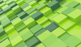 Green Blocks Abstract Background Vector Illustration