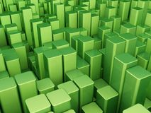 Green blocks background Stock Photo