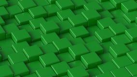 Green blocks. 3D rendering. Green blocks. Art concept. Abstract background. 3D rendering stock illustration