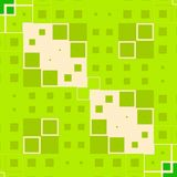 Green Blocks Squares Texture Royalty Free Stock Photography