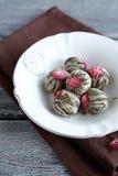 Green Blooming Tea, balls Royalty Free Stock Photography