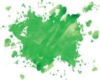 Green blot. On white, vector illustration Stock Photos