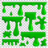 Green blots, splashes and smudges Royalty Free Stock Photo