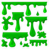 Green blots, splashes and smudges Stock Image