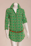 Green blouse with belt Royalty Free Stock Photos