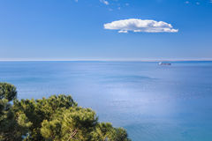 Green and Blu, marine scene Royalty Free Stock Images