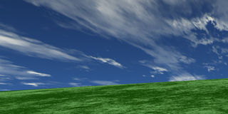 Green and blue. Green grace blue sky stock illustration
