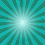 Green and Blue Abstract Comic Cartoon Ray and Sunlight Background.  vector illustration