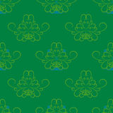 Green blue abstract pattern wallpaper spiral flower Royalty Free Stock Images