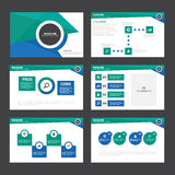 Green blue Abstract presentation template Infographic elements flat design set for brochure flyer leaflet marketing Stock Photography