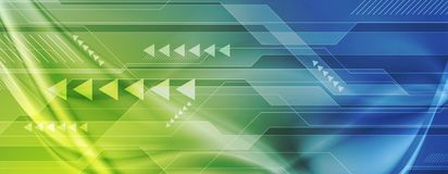 Free Green Blue Abstract Technology Digital Background Royalty Free Stock Images - 99858949