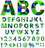 Green-blue alphabet Royalty Free Stock Images