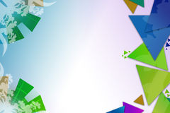 Green and blue arc and triangle overlap, abstract background Royalty Free Stock Photography