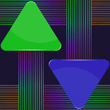 Green and blue arrow signs Stock Images