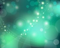Green Blue Background With Bokeh Effect Stock Photo
