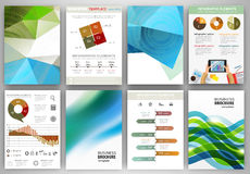 Green and blue backgrounds and abstract concept infographics Stock Photo
