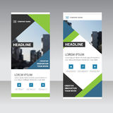 Green blue black triangle Business Roll Up Banner flat design te Stock Photography