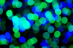 Green & Blue Bokeh Lights Stock Image