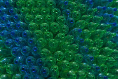 Green and Blue bottles. Royalty Free Stock Image