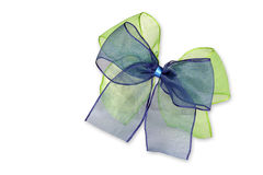 Green and blue bow Stock Photos
