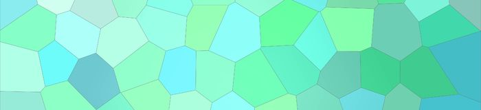 Green and blue bright Big Hexagon in banner shape background illustration. Green and blue bright Big Hexagon in banner shape background illustration stock illustration