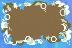 Green, Blue and Brown Retro Background Royalty Free Stock Photography