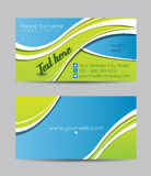 Green and blue business cards Royalty Free Stock Images