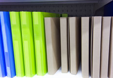 Green, blue and cardboard folders Royalty Free Stock Image