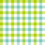 Green blue check tablecloth seamless pattern Stock Image