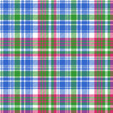 Green blue check tartan plaid seamless pattern Stock Images