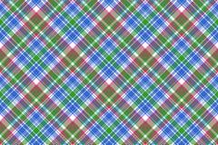 Green blue check tartan plaid seamless pattern Stock Image